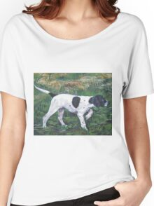 English Pointer Fine Art Painting Women's Relaxed Fit T-Shirt