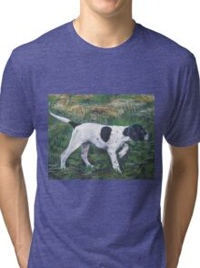 English Pointer Fine Art Painting Tri-blend T-Shirt