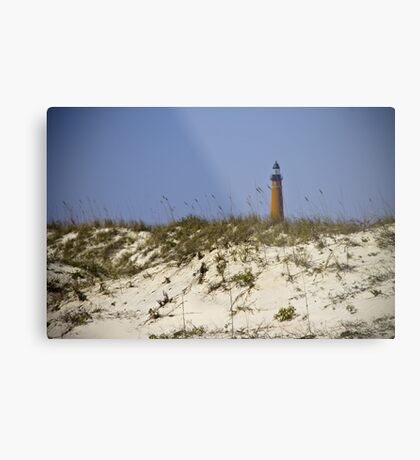 Beachview of Ponce Inlet Lighthouse Metal Print