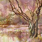 * a tree near a pond in the park * by GREG SMIRNOV