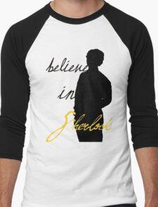 Believe in Sherlock Holmes Men's Baseball ¾ T-Shirt