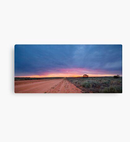 Sunset Road - Mungo NP, NSW Canvas Print