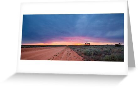 Sunset Road - Mungo NP, NSW by Malcolm Katon