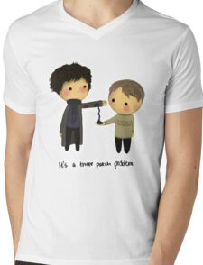 Three-patch problem. Mens V-Neck T-Shirt