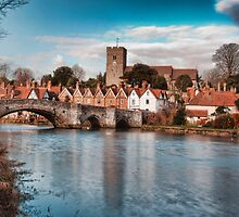 Aylesford Village at High Tide by Dave Godden