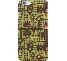Robots green. iPhone Case/Skin