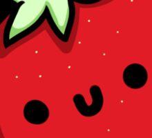 Cute Strawberry Tee  Sticker