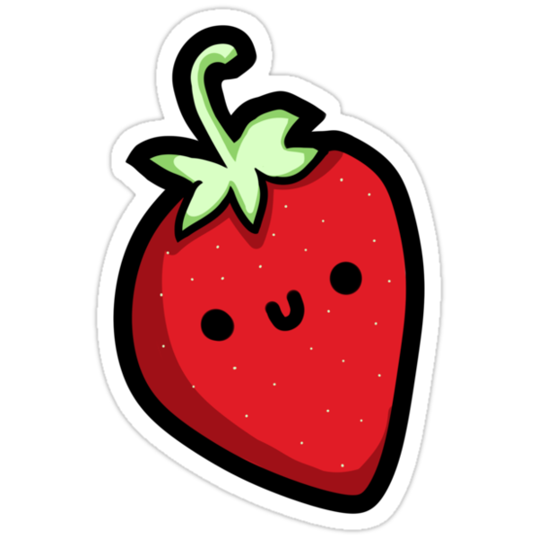 Cute Strawberry Tee  by flapperzapper
