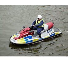 Police water jet ski Photographic Print