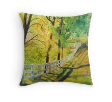 Receding Fence Line 2 Throw Pillow