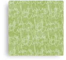 What potions have I distill'd (Green) Canvas Print