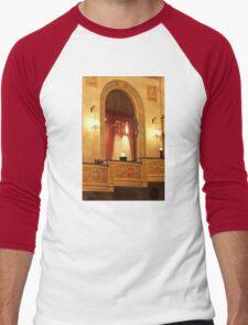 Balcony in Detroit Orchestra Hall in Michigan Men's Baseball ¾ T-Shirt