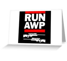 RUN AWP Greeting Card