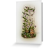 A Garden fence Greeting Card
