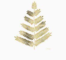 Leaflets – Turquoise & Gold Unisex T-Shirt