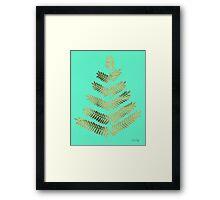 Leaflets – Turquoise & Gold Framed Print