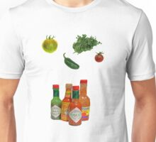 hot sauce and veggies Unisex T-Shirt