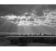 Sun shines on industry Photographic Print