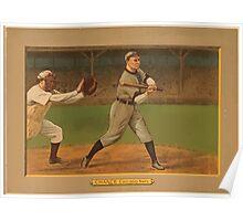 Benjamin K Edwards Collection Frank Chance Chicago Cubs baseball card portrait Poster