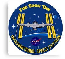 I Saw the ISS Canvas Print
