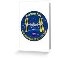 I Saw the ISS Greeting Card