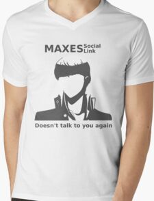 Social Link Maxed Mens V-Neck T-Shirt