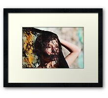 the widow Framed Print