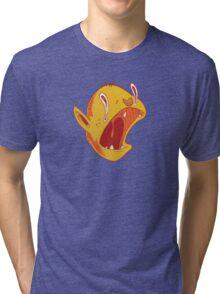 Candy corn vampire Tri-blend T-Shirt