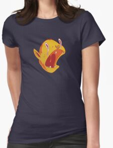 Candy corn vampire Womens Fitted T-Shirt