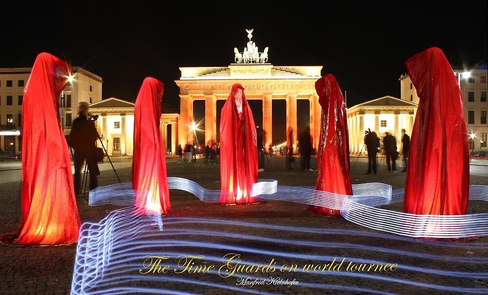 Festival of Lights  Berlin - Time guards by Manfred Kielnhofer by kielnhofer