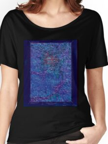 USGS Topo Map Washington State WA Mt Rainier 242669 1928 125000 Inverted Women's Relaxed Fit T-Shirt