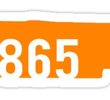 Knoxville Tennessee 865 Sticker