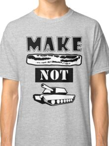 Make Bacon Not War Iconic Tshirt Classic T-Shirt