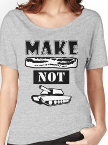 Make Bacon Not War Iconic Tshirt Women's Relaxed Fit T-Shirt