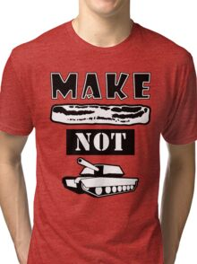 Make Bacon Not War Iconic Tshirt Tri-blend T-Shirt