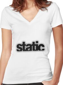 Static Women's Fitted V-Neck T-Shirt
