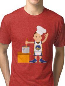 Chef Curry Widda Pot Boi! Tri-blend T-Shirt