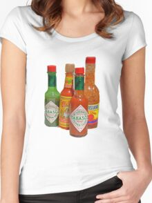 many hot sauces Women's Fitted Scoop T-Shirt