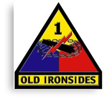 1st Armored Division Crest Canvas Print
