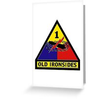 1st Armored Division Crest Greeting Card