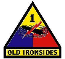 1st Armored Division Crest Photographic Print