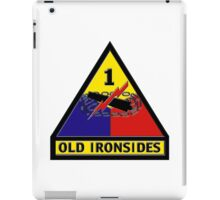 1st Armored Division Crest iPad Case/Skin