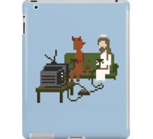 Jesus And Devil Playing Video Games Pixel Art iPad Case/Skin