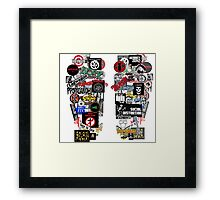 punk rock sticker wall Framed Print
