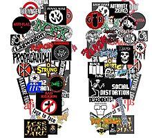 punk rock sticker wall Photographic Print