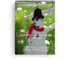 Challenge Winner - Opposites Grand Finale Canvas Print