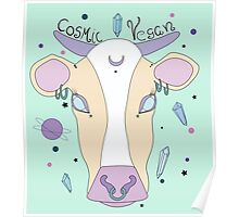 Cosmic Vegan Cow. Poster