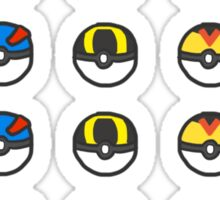 Pokeball Variety Sticker