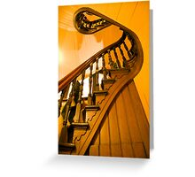 Ghosts on the Stairs Block Arcade Greeting Card