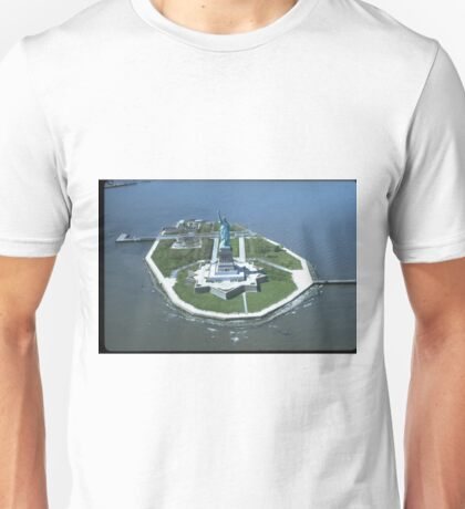 Statue of Liberty Aerial Photograph Unisex T-Shirt